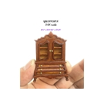 1:48 1/4 quarter scale wooden walnut Baby dutch dollhouse miniature